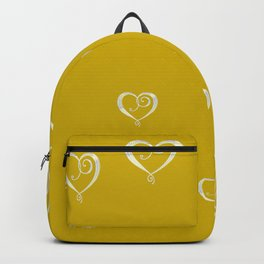 Polka Heart Party, Gold Backpack