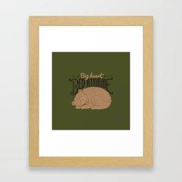 Big Heart Bed Attitude Framed Art Print