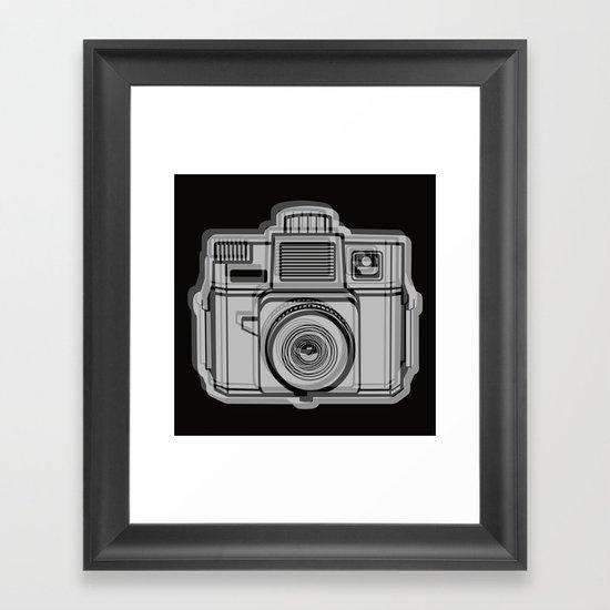I Still Shoot Film Holga Logo - Black Framed Art Print