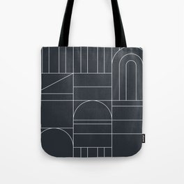 Deco Geometric 04 Black Tote Bag