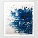 Tranquil: a minimal, abstract piece in blue by Alyssa Hamilton Art by blushingbrushstudio
