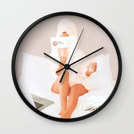Weekend Morning II Wall Clock