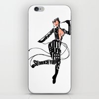 catwoman iPhone & iPod Skins featuring Catwoman by Ayse Deniz