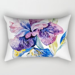 Spring blossom iris Rectangular Pillow