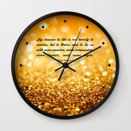 "My mission in life... ""Maya Angelou"" Inspirational Quote Wall Clock"