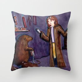 Stop packing, there's no time! Throw Pillow