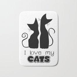 I Love My Cats (Lights) Bath Mat