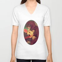 courage V-neck T-shirts featuring Courage by James M. Fenner