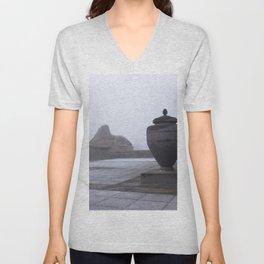 Sphinx in Fog Unisex V-Neck