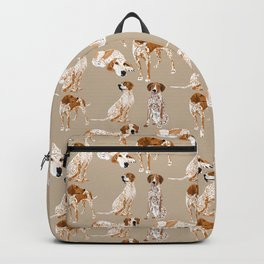Redtick Coonhounds on Tan Backpack