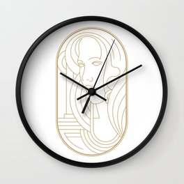 Girl Art Deco 04 Wall Clock