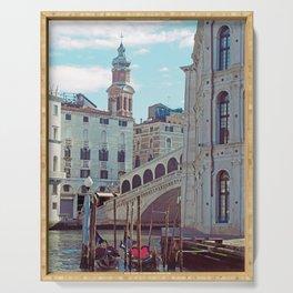 Venice - Rialto Bridge and Gondola Serving Tray