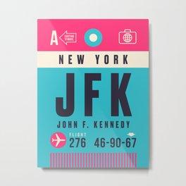 Baggage Tag A - JFK New York Metal Print