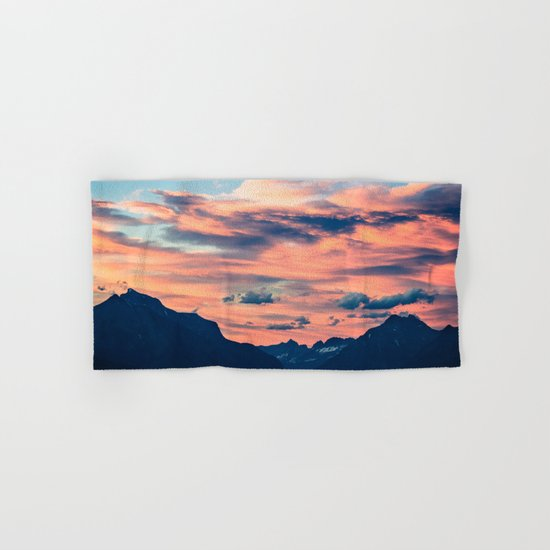 Sunset Mountains Hand & Bath Towel