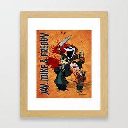 Jay, Mike & Freddy Framed Art Print