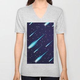 Flying meteors. Unisex V-Neck