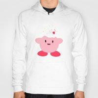 kirby Hoodies featuring Sweet Kirby by dev's shop