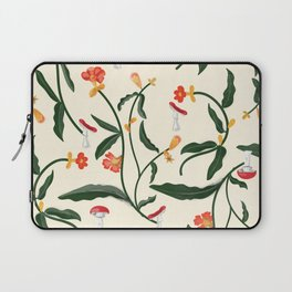 Mushrooms and Flowers Hanging Out Laptop Sleeve