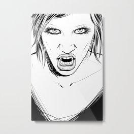 Vampire Lady Metal Print