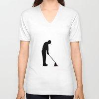 golf V-neck T-shirts featuring GOLF by INNOCENT DESIGNER