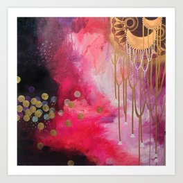 Love Bomb Original Painting by Rachael Rice Art Print