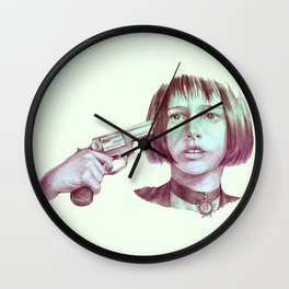 leon - mathilda  Wall Clock