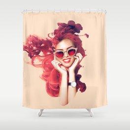 La Fraise Femme Shower Curtain