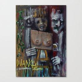 I am not a wanker Canvas Print