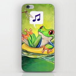 Lazy River Frog iPhone Skin