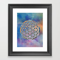 The Flower of Life in the Sky Framed Art Print