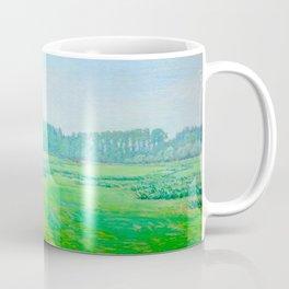 """Václav Radimský (1867-1946) """"Louka u lesa"""" Impressionist Landscape Oil Painting Coffee Mug"""