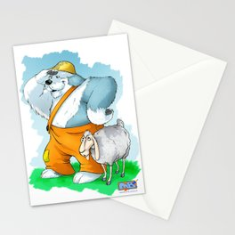 old english sheepdog Stationery Cards