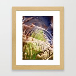 Intensely immersive hollow light flight Framed Art Print
