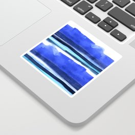 Wave Stripes Abstract Seascape Sticker