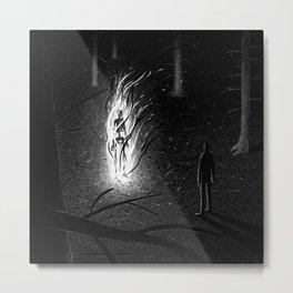 Drawlloween 2015: Skeleton Metal Print