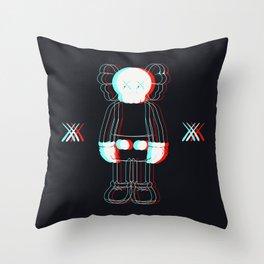 Trippy Kaws Throw Pillow