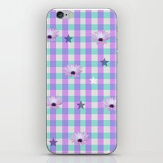 Gingham flowers iPhone & iPod Skin