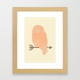 Owl and Arrow Framed Art Print