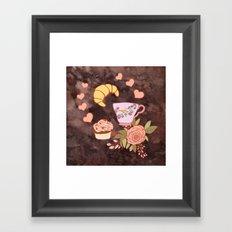 Romantic breakfast   Framed Art Print
