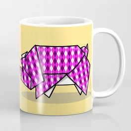 Origami Pig Coffee Mug