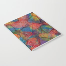 Multicolor Leaves Notebook