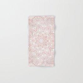 Mandala Yoga Love, Blush Pink Floral Hand & Bath Towel
