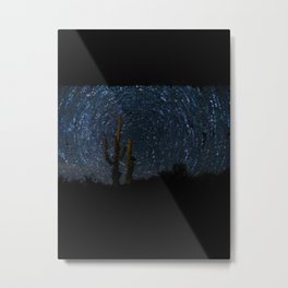 Cactus against a Starry night - 126 Metal Print