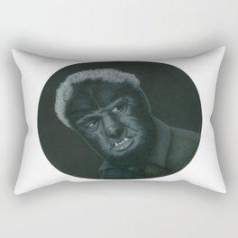 The Wolf Man on vinyl record print Rectangular Pillow