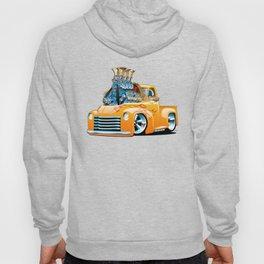 American Classic Hotrod Pickup Truck Cartoon Hoody