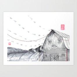 Barn Burner sketchbook page Art Print