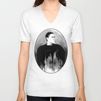 snl V-neck T-shirts featuring DARK COMEDIANS: Tracy Morgan by Zombie Rust