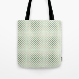 the green dot on light beige Tote Bag