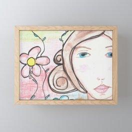 FarmGirl Framed Mini Art Print
