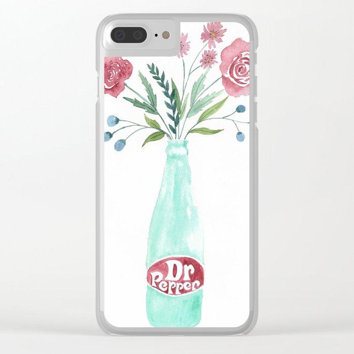 Dr Pepper bouquet Clear iPhone Case